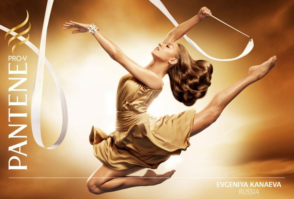 Olympic Champion Evgenia Kanaeva becomes an ambassador of beauty brands Pantene Pro-V and Venus (1/3)