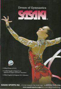 7. Silvia Miteva-Sasaki Ad-world of gymnastic magazine-Oct 2012