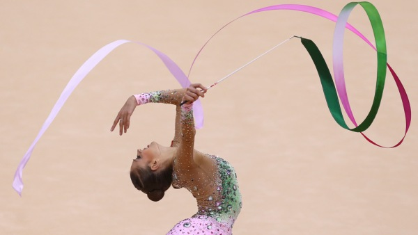 Evgenia Kanaeva-Ribbon-Individual AA Final-11Aug-London 2012