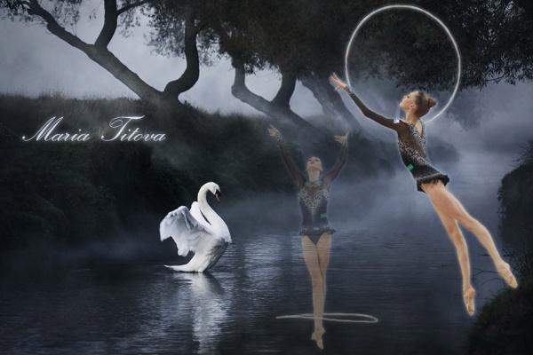 Maria Titova-the Swan-walls by Hershey