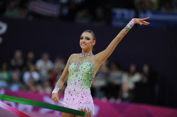Evgenia Kanaeva-Ribbon-AA Qualification-OG London 2012